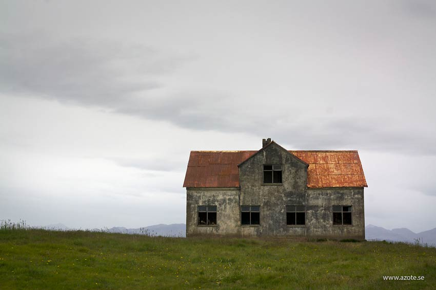 Ödehus på Island. Foto: F Thorsteinson/Azote